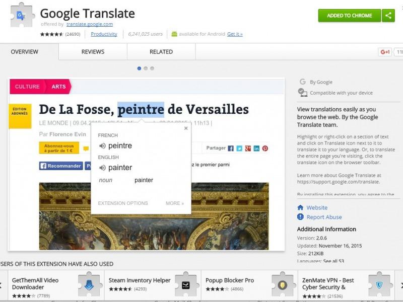 ca39259189 Google fordító bővítmény a Chrome böngészőhöz - ITBázis